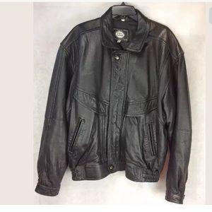Pop's Leather Men's Lambskin Bomber Flight Jacket